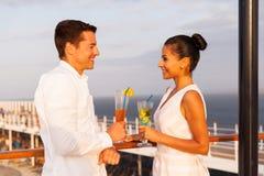 Croisière de date de couples Photographie stock