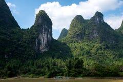 Croisière de Guilin à Yangshuo Images libres de droits