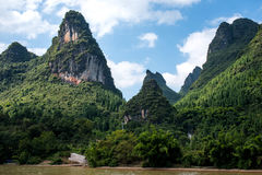 Croisière de Guilin à Yangshuo Image libre de droits