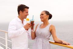 Croisière de lune de miel de couples Photographie stock libre de droits