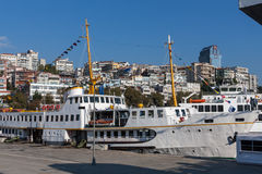 Croisière de passager dans le port d'Istambul Image libre de droits