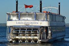 Croisière de reine de la Région des lacs - Rotorua Nouvelle-Zélande Images libres de droits