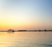 Croisière de rivière de Chobe image stock