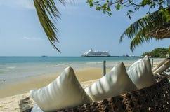Croisière de vue de plage Images stock