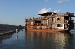 Croisière du Mekong vers les 4000 îles du Mékong dans Pakse, sud L Image libre de droits