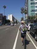Croisière en bas des rues de Los Angeles Images libres de droits