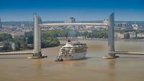 Croisière-Frances de bateau, l'Aquitaine, la Gironde, 33, Bordeaux Bastide, La Photographie stock