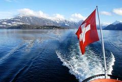 Croisière sur la luzerne de lac, Suisse Photo stock