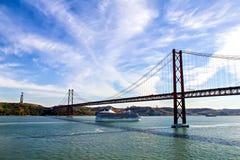 Croisière vers Lisbonne, Portugal Image libre de droits