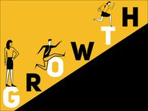 Croissance créative et personnes de concept de Word faisant des choses illustration stock