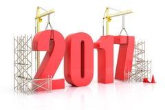 Croissance 2017 d'année Images libres de droits