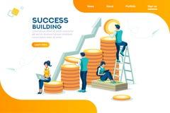 Croissance de banque et concept financiers alternatifs de succès illustration de vecteur