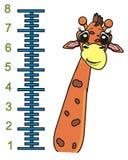 Croissance de girafe et de règle Images libres de droits
