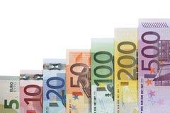 Croissance de graphique de billets de banque et sujet de succès Image libre de droits