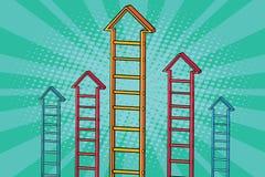 Croissance de graphique de flèche d'escalier illustration de vecteur