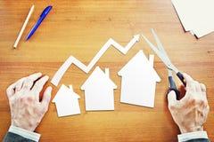 Croissance des ventes des immobiliers Photo stock