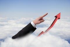 Croissance financière en avant Photos stock