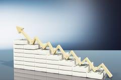 Croissance financière et vers le haut de concept illustration libre de droits