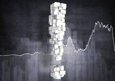 Croissance financière, rendu 3D Photo libre de droits