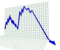 Croissance globale de fonds de marché boursier d'atout et investissement - illustration 3d photographie stock libre de droits