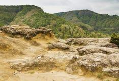 Croissances en pierre sur la montagne La Russie Images stock