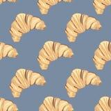 Croissant με τα σμέουρα διανυσματική απεικόνιση