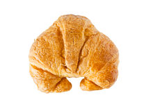 Croissant πέρα από την άσπρη ανασκόπηση στοκ φωτογραφία με δικαίωμα ελεύθερης χρήσης