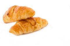 Croissant που απομονώνεται στο λευκό Στοκ Εικόνες