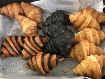 Croissant σε πολλοί ύφος στοκ εικόνα με δικαίωμα ελεύθερης χρήσης