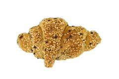 croissant σουσάμι Στοκ Εικόνες