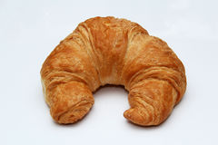 Croissant στην άσπρη ανασκόπηση Στοκ φωτογραφίες με δικαίωμα ελεύθερης χρήσης