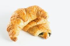 Croissant στην άσπρη ανασκόπηση Στοκ Εικόνα