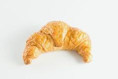 Croissant στην άσπρη ανασκόπηση Στοκ φωτογραφία με δικαίωμα ελεύθερης χρήσης