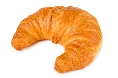 Croissant. Fresh french croissant on white background Stock Photo