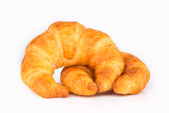 Croissant aislado en blanco Foto de archivo libre de regalías