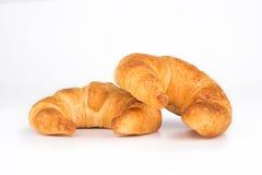 Croissant aislado en blanco Imágenes de archivo libres de regalías