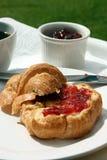 Croissant & ostruzione Fotografia Stock
