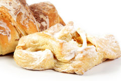 Croissant and apple pie Stock Image