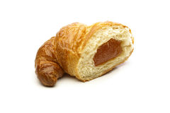 Croissant with apricot Royalty Free Stock Photo