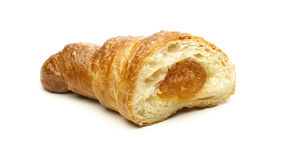 Croissant with apricot Stock Images