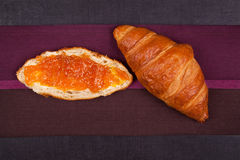 Croissant background. Royalty Free Stock Photos