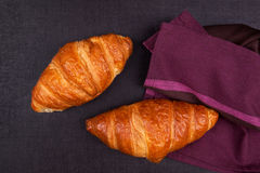 Croissant background. Royalty Free Stock Photography