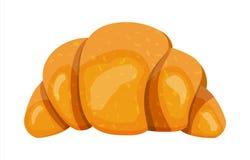 Croissant bake puff pastry on white background. stock illustration
