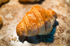 Croissant, bakery palatable in close-up. Royalty Free Stock Photography