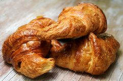 Croissant bakery pieces typical from france Royalty Free Stock Photography