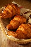 Croissant bakery pieces typical from france Stock Photo