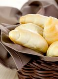 Croissant in a basket Royalty Free Stock Images