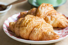 Croissant with Berries fruit jam Royalty Free Stock Images