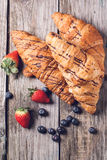 Croissant and berries Royalty Free Stock Photos