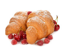 Croissant with berries Stock Image